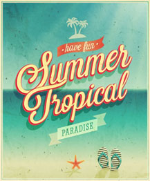 Reklamebeispiel - Summer Tropical
